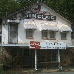 Old Sinclair gas station