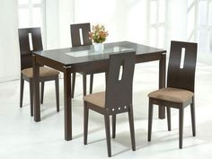 Modern Glass Dining Table Dining Room ~ Contemporary Glass Top Dining Table With Chrome Base