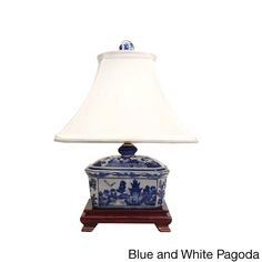 Give your home decor a touch of traditional influence with these porcelain cover box lamps. Available in an array of colors and motifs, each lamp is paired with an off-white square shade made of silk.