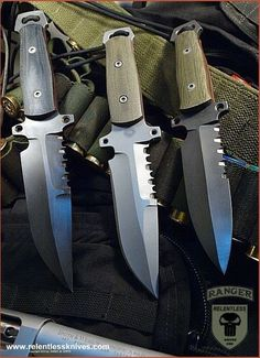 M4 Rangers Combat Knives, each hand made. The epitome of duty, combat, and/or survival knives.