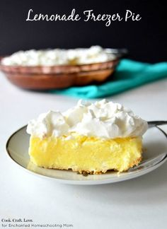 Lemonade freezer pie is a refreshing frozen treat that gets you completely prepped and pumped for summer!  And you'll never guess the secret to the punchy lemon flavor!