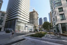 The highest-priced high rises in Toronto remain in Yorkville. Units south of Bloor St., near Charles St., tend to be cheaper than those north of Bloor.