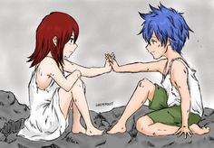 Jerza reminds me of a friendship I had with one of my dude friends in 3rd grade. we were BEST friends. I had a crush on the guy but then 4th grade came and he forgot all about me.... kind of like when jellal turned evil. and erza believed she had to shield her heart in armor to be strong, because that's exactly what I did