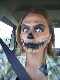 Scarecrow makeup for Halloween 2015! (my photo)