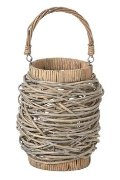 Willow Weave Lantern #nextweddingtea I want to learn to weave natural fibre baskets - its on the list