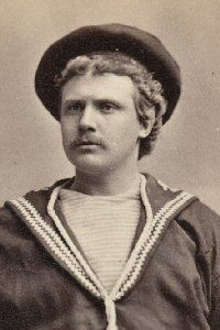 """""""H.M.S. Pinafore,"""" Alonzo Hatch as Ralph Rackstraw, 1879, unauthorized American production."""