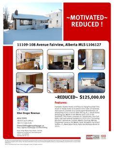 11109-108 Avenue Fairview Alberta  MLS L106127 REDUCED