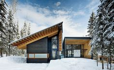 Kicking Horse Residence by Bohlin Cywinski Jackson in  Golden, Canada.