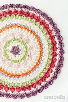 Tulip stitch crochet mandala