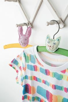 I would make these little hangers with felt animals or hearts.  How cute to give a stack of four for a baby shower.