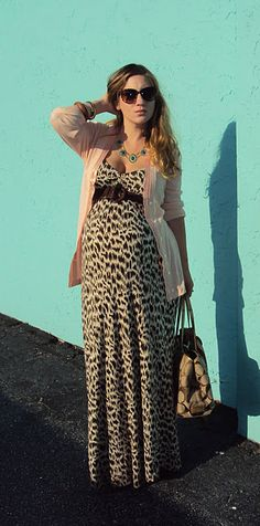 "ohh when i saw this i just had to ""pin"" it. i lived in my leopard maxi when i was pregnant with the triplets"