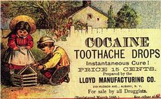 1885 Vintage Cocaine Toothache Drops Ad Americana Photo Print 18X11