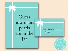 Guess how many Pearls are in the jar guessing by MagicalPrintable