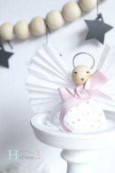 Diy angelitos navideños de madera/Navidad handmade by H A B I T A N 2 http://habitandos.logspot.com.es