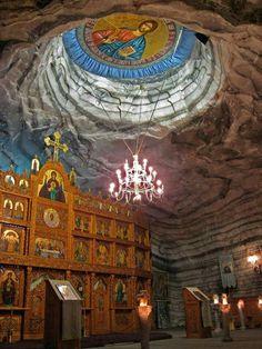 Church in an underground salt mine in Romania