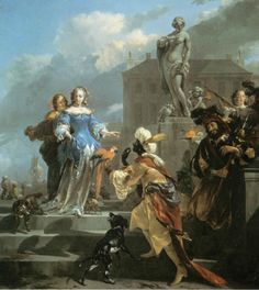 Nicolaes Bercham Othello and Desdemona Netherlands (1665) oil on canvas Height: 94 cm (37 in) Width: 89.5 cm (35 ¼ in) The Image of the Black in Western Art Research Project and Photo Archive, W.E.B....