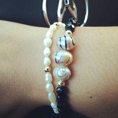 Siguenos instagram & facebook #zowiecreations #bracelets #pulsera #pearls #perlas #black #negro #crystalbeads #jewerly #pr #handmade