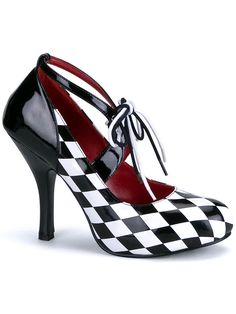 "Women's ""Harlequin"" Heels by Funtasma (Black/White)"