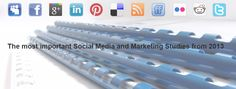 The most important Social Media and Online Marketing Studies from 2013. Get an overview of current market developments and future prospects. via SocialMedia Institute (SMI)