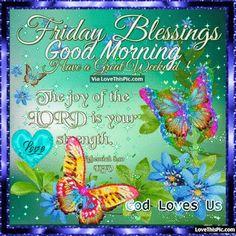 Friday Blessings Good Morning