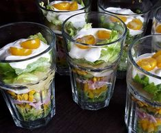 Rezept kleiner Sommerschichtsalat von Schmapsi - Rezept der Kategorie Vorspeisen/Salate