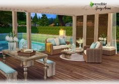 Spring Aroma patio at SIMcredible! Designs 4 via Sims 4 Updates