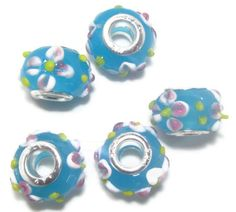 5 Lampwork Glass Euro Beads by jodysbeads on Etsy, $4.00 #JENBNR #COUPON