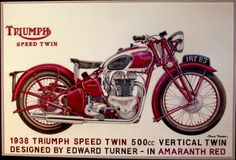 Triumph 500cc Speed Twin motorcycle advertisement