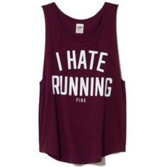 I hate running. Yep, I own this in mint green :)