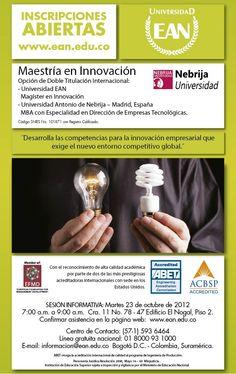 Maestría en Innovación. Participa en la sesión informativa del martes 23 de octubre.
