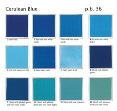 what color is cerulean?: from sky blue to cerulean blue, the light