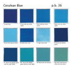 Cerulean Blue Shades Paint Colors Color Names Wedding