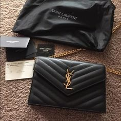 Saint Laurent crossbody chain shoulder bag It is a YSL inspired WOC shoulder bag. Comes with the dust bag and ID card Saint Laurent Bags Crossbody Bags