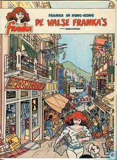 Carte postale - Bande dessinée: Franka - De valse Franka