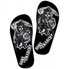 Sons of Anarchy Women's Flip Flops.....I so need a pair of these