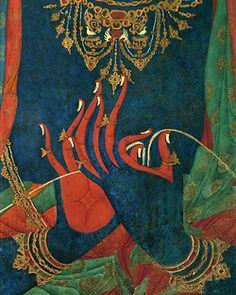 Tibetan Buddhist fresco detail of the hands of a bodhisattva in mudra (sacred gesture). Tibetan Art, Tibetan Buddhism, Buddhist Art, Little Buddha, Susanoo, Hindu Art, Sacred Art, Religious Art, Ancient Art