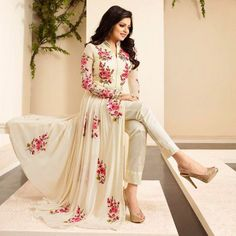 Shop Online The Woman Taxfeb Drashti Dhami Georgette Cream Embroidered Semi Stitched Pant Style Suit - Twt03 @ Rs.1723 At Indiarush. Best Discount ✓ Cash On Delivery ✓ Free Shipping✦ ✓14 Days Return ✓ All India Shipping.