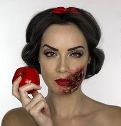 maquillage pour Halloween horrifiant : blanche neige