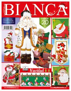 Aleyda Osorio / Publicaciones y Revistas Cross Stitch Books, Felt Christmas Ornaments, Book Crafts, Craft Books, Felt Toys, Wool Felt, Advent Calendar, Country, Holiday Decor