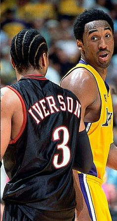 Kobe Bryant & Allen Iverson - Beauty is Art Nba Pictures, Basketball Pictures, Sports Basketball, Basketball Players, Basketball Tickets, Basketball Legends, Duke Basketball, College Basketball, Kobe Bryant Family