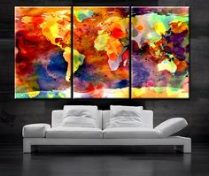 Canvas world map wall art print on canvas large canvas world map art canvas world map wall art print on canvas large canvas world map art artwork canvas world map world map print home office decoration large canvas gumiabroncs Images