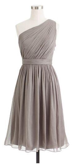 silk chiffon bridesmaid dress - so pretty!