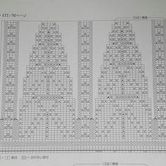 Схема круглой кокетки (вязание снизу вверх). Рапорт 26 до убавок и 10 петель после выполнения убавок.