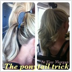 For a fuller and longer looking pony. beautiful-hair