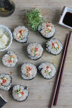 The Spicy Tofu Roll! Filled with raw vegetables and pan-fried tofu and a spicy sauce