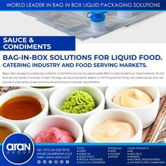 Bag In Box, Edible Oil, Packaging Solutions, World Leaders, Food Service, Ketchup, Great Recipes, Catering, Beverages
