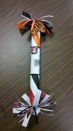 Spirit stick I made for school
