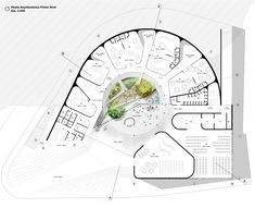 design Gallery of Architecture and Urban Space first place in the design of the Los Grillos Kindergarten in Colombia 8 Concept Architecture, Landscape Architecture, Architecture Design, Theater Architecture, Museum Architecture, Kindergarten Projects, Kindergarten Design, Circular Buildings, Plan Design