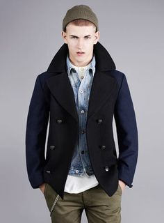 Collection Black Mens Pea Coat Pictures - Reikian