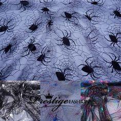 HALLOWEEN COBWEBS SPIDERS NET FABRIC TUTU CAPE DRAPING COSTUMES FANCY DRESS SEW